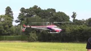 長生村産業まつり ラジコンヘリ展示飛行 1回目