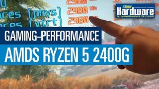 AMD Ryzen 5 2400G | Gaming-Performance GTA 5, Wolfenstein 2,  Skyrim SE (Full HD, 1080p)