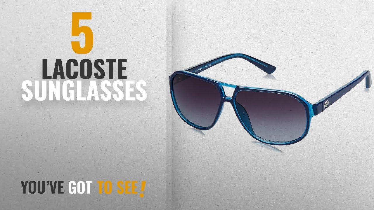 125aa2b008 Top 10 Lacoste Sunglasses  2018   Lacoste Gradient Rectangular Men s  Sunglasses - (Lacoste 715 424