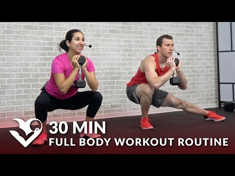30 Minute Full Body Workout Routine at Home Total Body Strength Training Workout with Weights