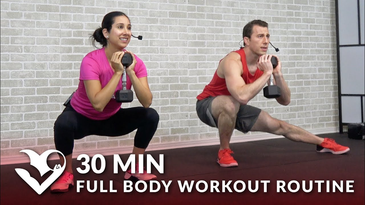 30 Minute Full Body Workout Routine at Home - Total Body Strength Training Workout with Weights