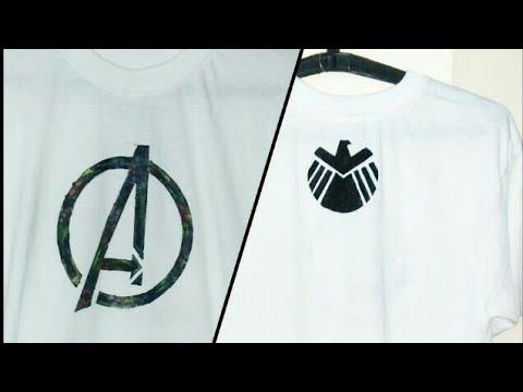 Avengers and shield logo print on a T-shirt | MAKE IT|