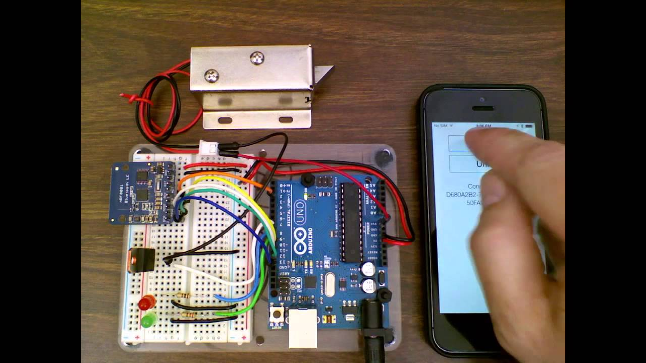 Controlling a Lock with an Arduino and Bluetooth LE   Make: