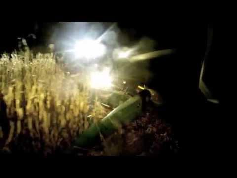 John Deere 9770 Combine Harvesting Corn At Night 10 22 11