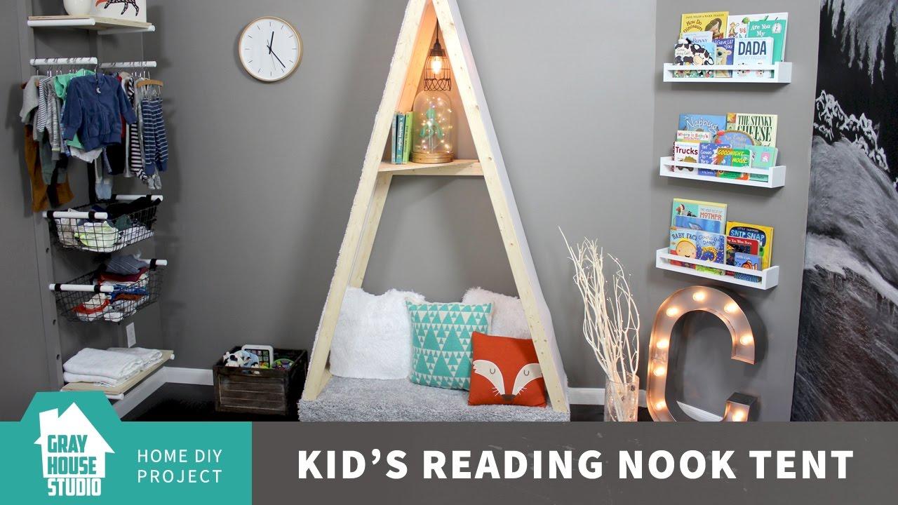 & Kidu0027s Reading Nook Tent // DIY - YouTube