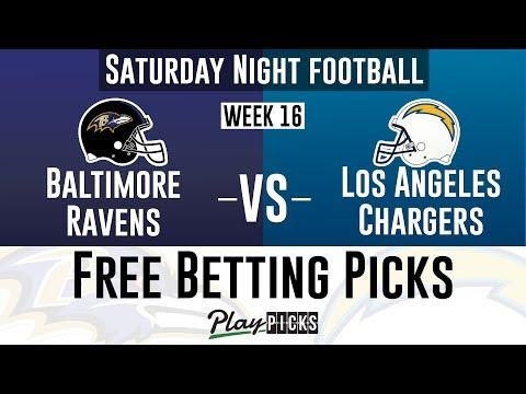 Ravens vs Chargers Free Picks | NFL Week 16 Betting | Saturday Night Football