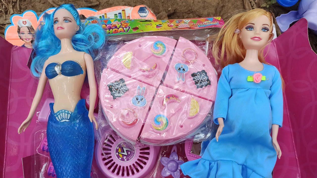 Mencari Mainan Masak Masakan Es Krim Kue Hamburger Boneka Barbie Putri Duyung Mermaid Supermarket Youtube