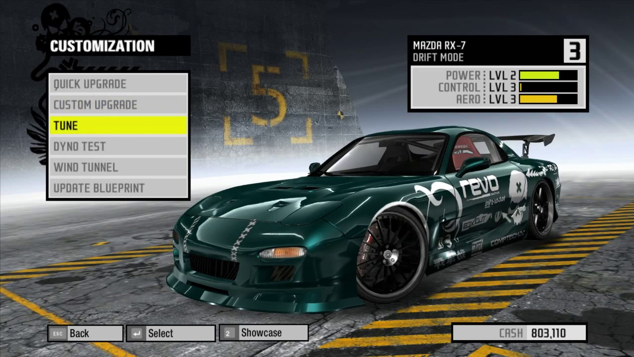 Mazda RX 7 Drift Blueprint | Upgrades | Tuning | Wind Tunnel | Dyno ...