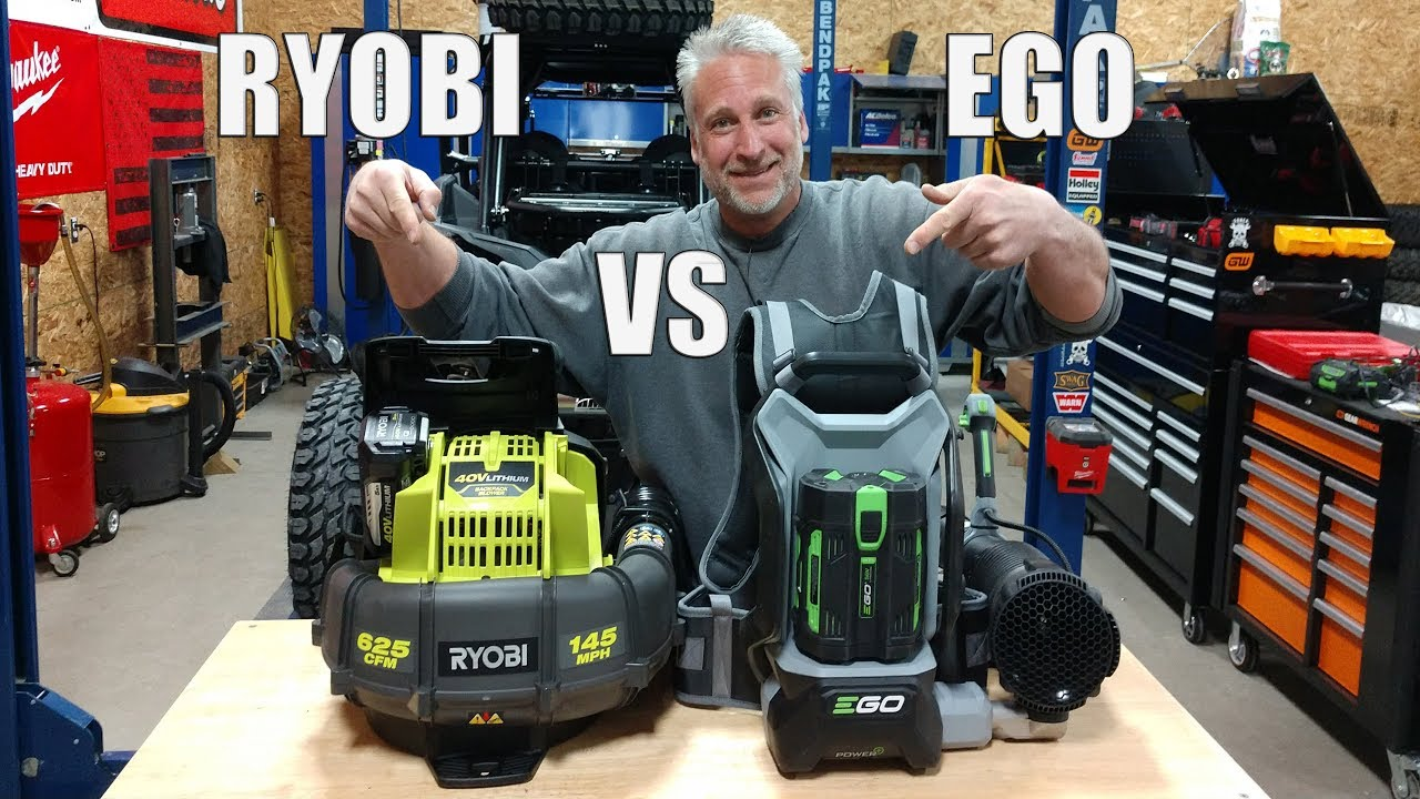 New Ryobi 40v Backpack Blower Ry40440 Vs Ego 56v Lb6002 Backpack Blower Youtube