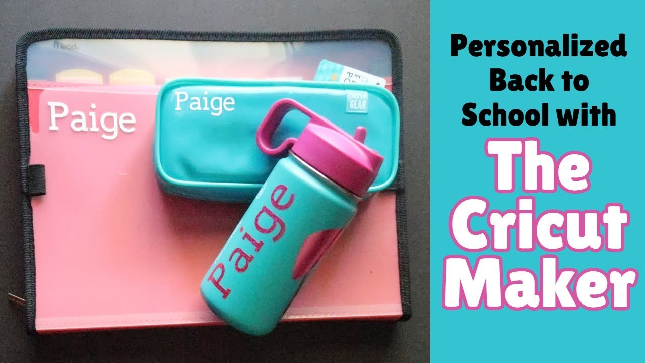 Cricut Takes Kids Back to School!: Personalization gets an A+