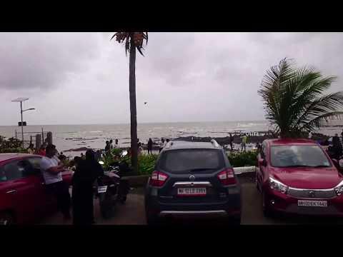 Bandra Bandstand Bus View - Mumbai Rain