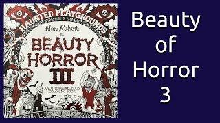 Coloring Book Flip Through: Beauty of Horror 3 by Alan Robert