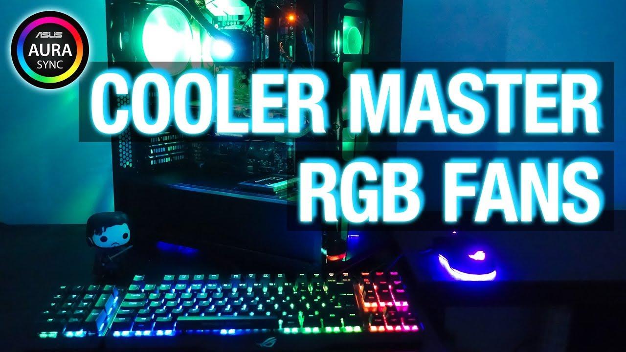 Full Aura Sync Setup w/ Cooler Master RGB Fans!