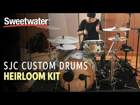SJC Custom Drums Heirloom 3-piece Shell Pack Dirty Mint