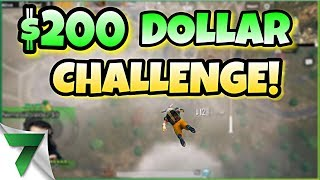 INSANE $200 Dollar BET Challenge IN PUBG MOBILE! CRAZY ENDING!!