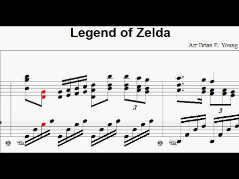 Theme from Legend of Zelda - Piano Paraphrase with sheet music