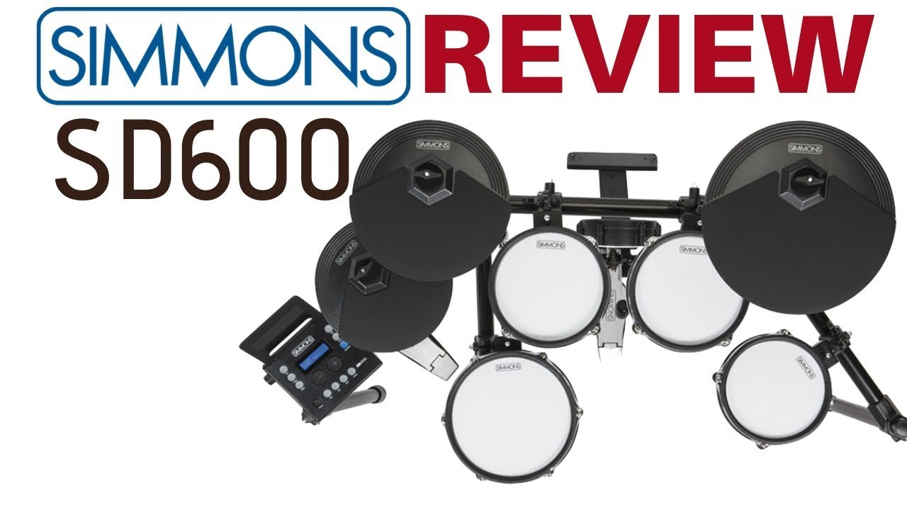 Simmons SD600 Drum Kit Review With Sound Demos Of All 35 Drum Kits