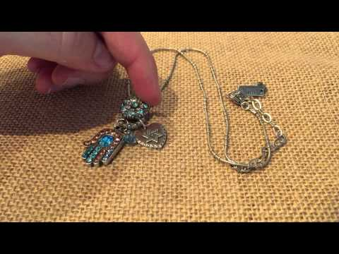 Review Mariana Silver Hamsa Hand Necklace