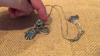 Review Mariana Silver Hamsa Hand Necklace
