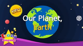 Kids vocabulary - [NEW] Our Planet, Earth - continents & oceans - English educational video for kids