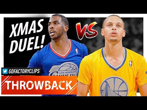 Throwback: Stephen Curry vs Chris Paul XMAS Duel Highlights (2013.12.25) Clippers vs Warriors - SICK