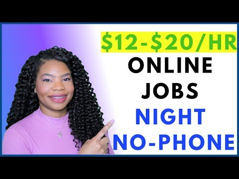 No-Phone Work-From-Home. Global. Night Hours. Entry Level | Online, Remote Work-At-Home Job OCT 2019
