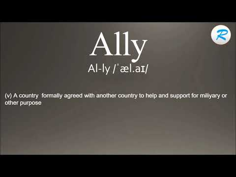 How To Pronounce Ally | Ally Pronunciation  | Ally Meaning |Ally Definition