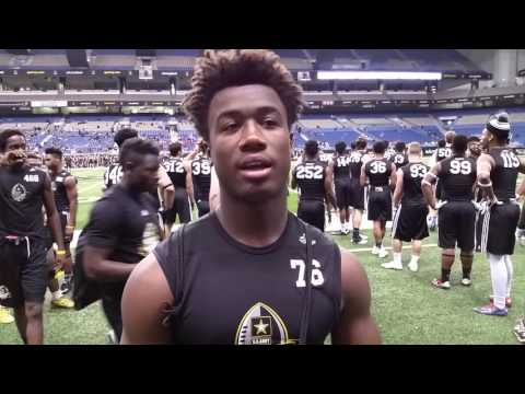 James Cook 2019 RB: Miami Central HS (Army Combine)