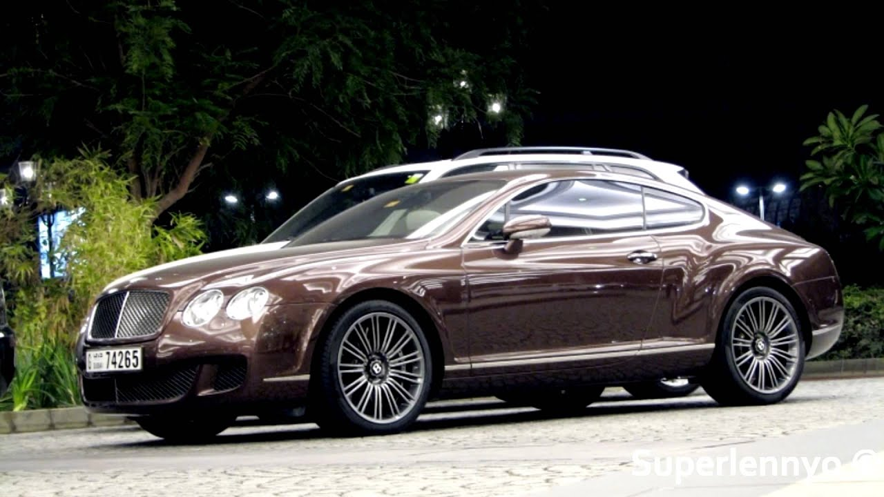 Brown Bentley Continental Gt Speed Amp 2010 Porsche Cayenne Turbo Accelerating Youtube