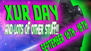 destiny   xur day new rise of iron info september 16th 2016