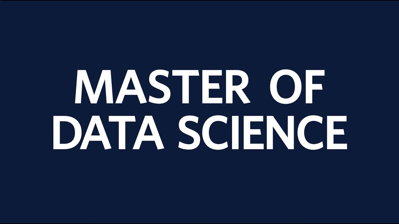 Master of Data Science - YouTube
