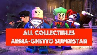 Lego DC Super Villains Arma-Ghetto Superstar Free Play 100% all Minikits and Collectibles