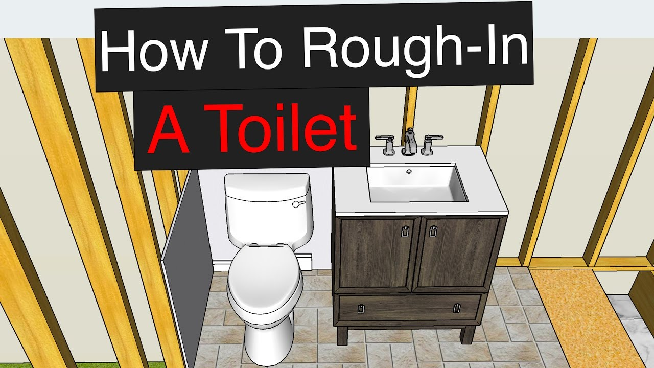 how to rough in a toilet with dimensions