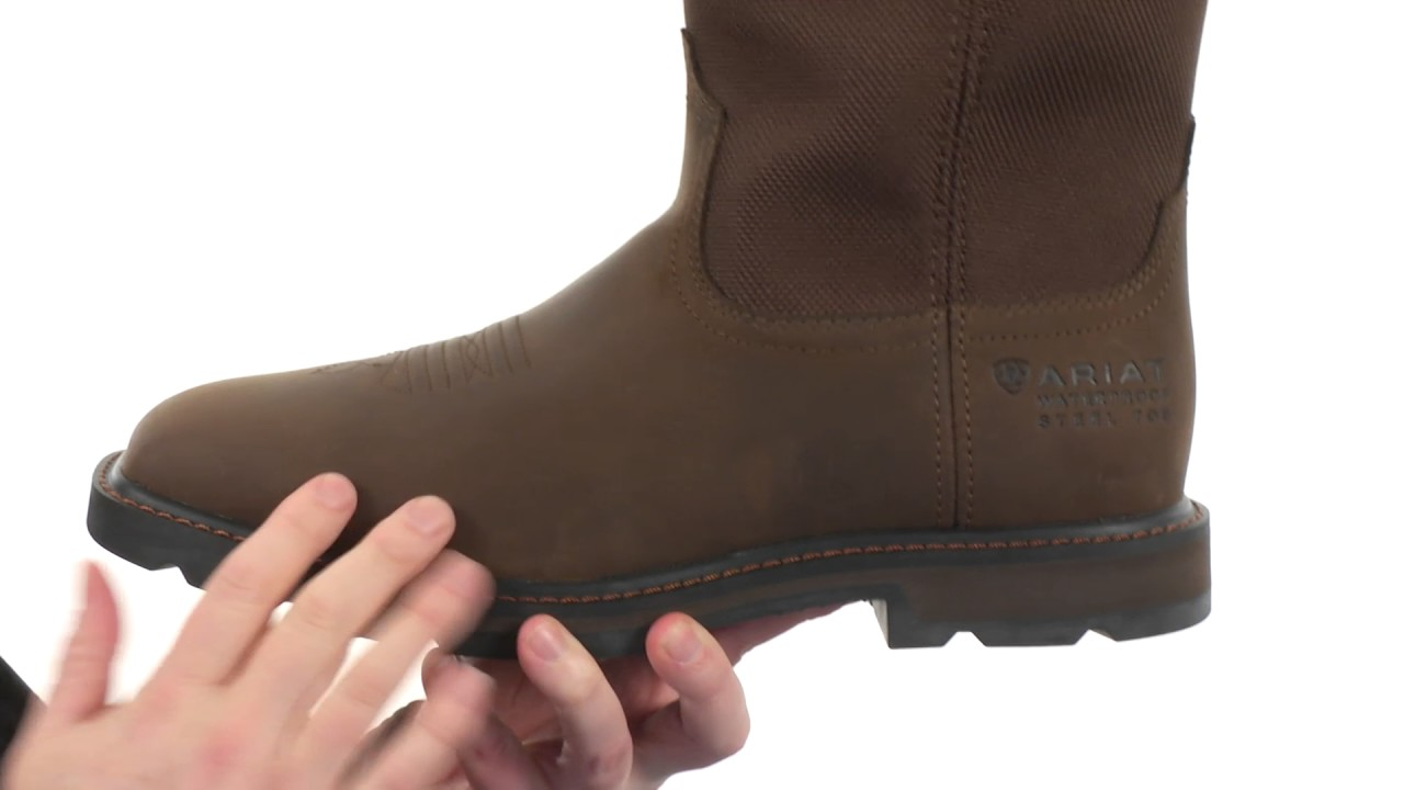 footwear where can i buy classic shoes Ariat Groundbreaker Wide Square Toe H20 ST SKU:8510769 - YouTube