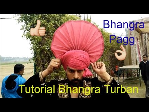 How To Tie Bhangra Turban | Ful Tutorial Front Turla Pagg Tying | Bhangra Online