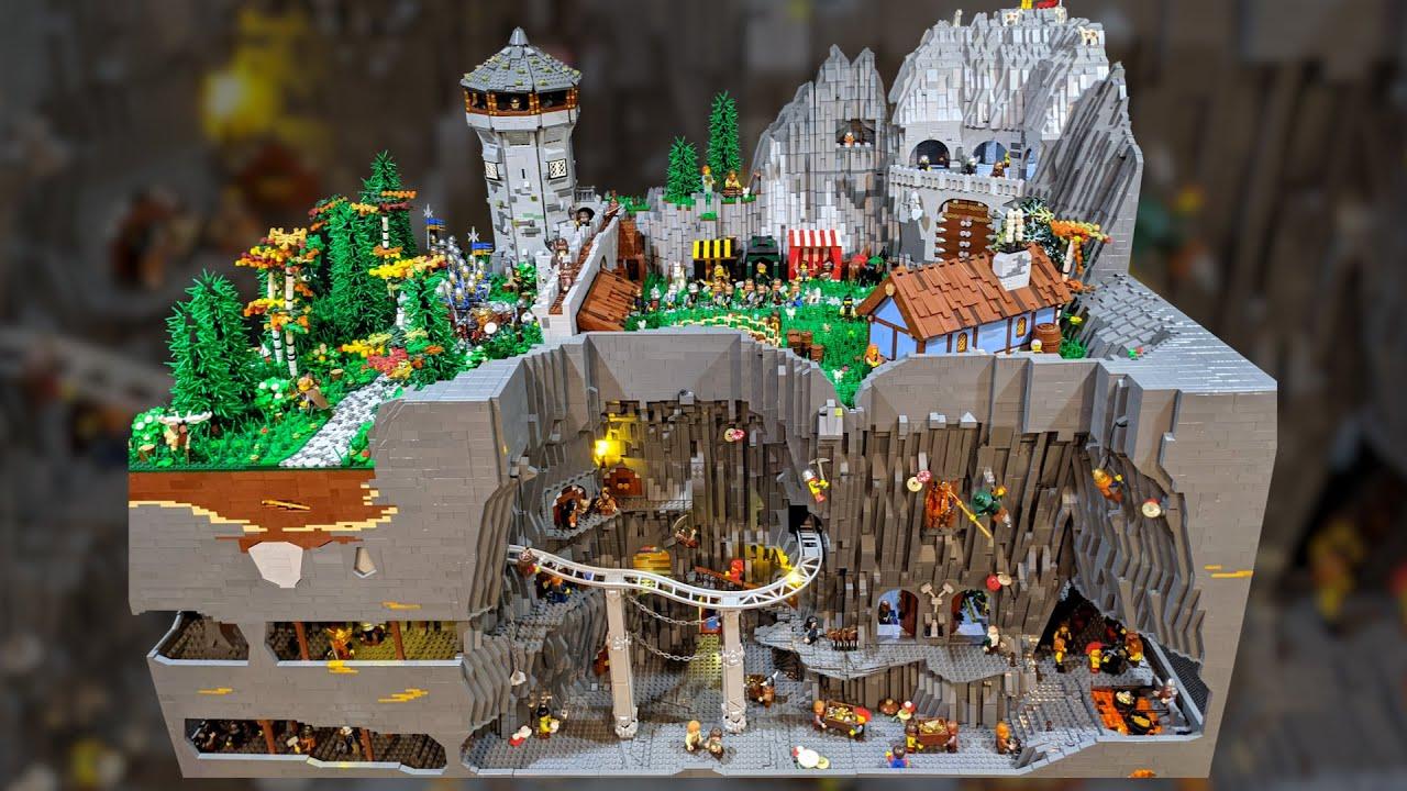 50,000+ Pieces! LEGO Dwarf Castle and Underground Bunker Battle