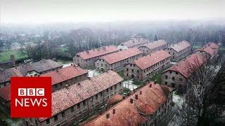 Auschwitz: Drone video of Nazi concentration camp(Subscribe to BBC News www.youtube.com/bbcnews Drone video shows the Auschwitz-Birkenau concentration camp as it is today - 70 years after it was ..., 2015-01-27T08:47:17.000Z)