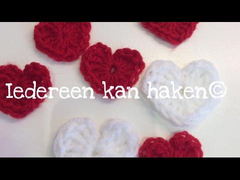 Iedereen Kan Haken Crochet Hartje Haken Nederlands Voor