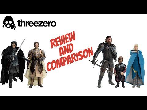 1/6 Figures THREEZERO Reviews Jon Snow, The Hound, Tyrion, Jaime, Daenerys Game Of Thrones