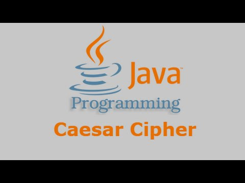 Java Tutorial - Caesar Cipher