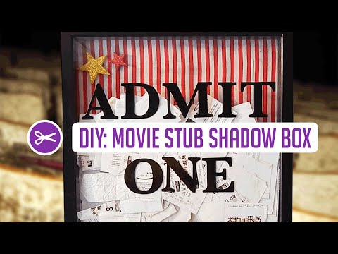DIY Shadow Box w/ Collected Movie Tickets