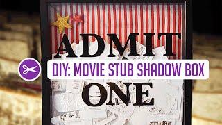 Diy Shadow Box W/ Collected Movie Tickets