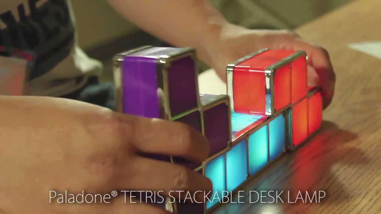 Paladone tetris desk lamp youtube paladone tetris desk lamp geotapseo Gallery