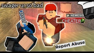 MOST OBVIOUS WALL HACKER | Roblox Arsenal