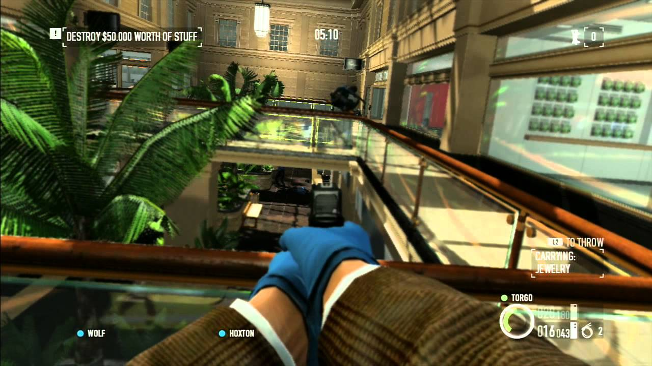 Payday 2 - Single Player Gameplay (PS3) - YouTube