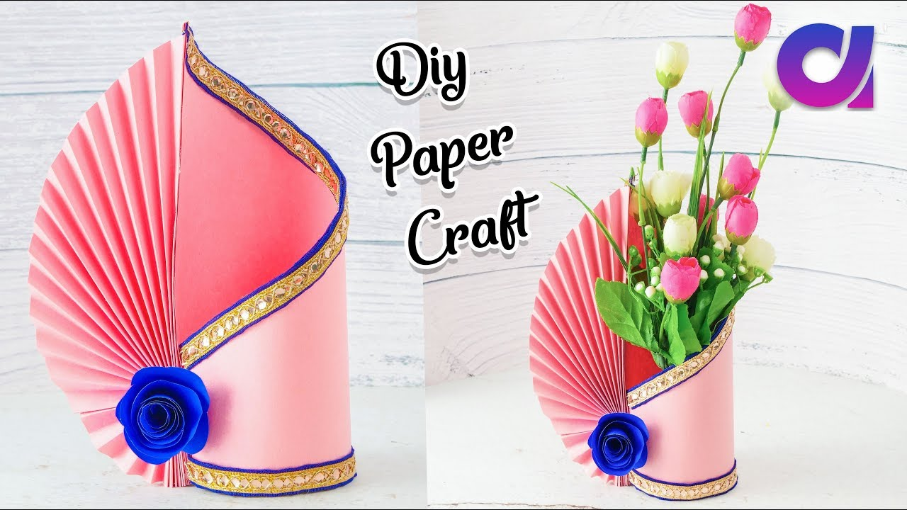 recyclables blog easy paper flower vase  how to make a