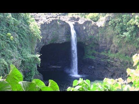 Rainbow Falls Hilo Hawaii Big Island video tour