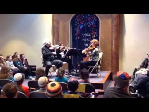 String quartet visits Striar Hebrew Academy