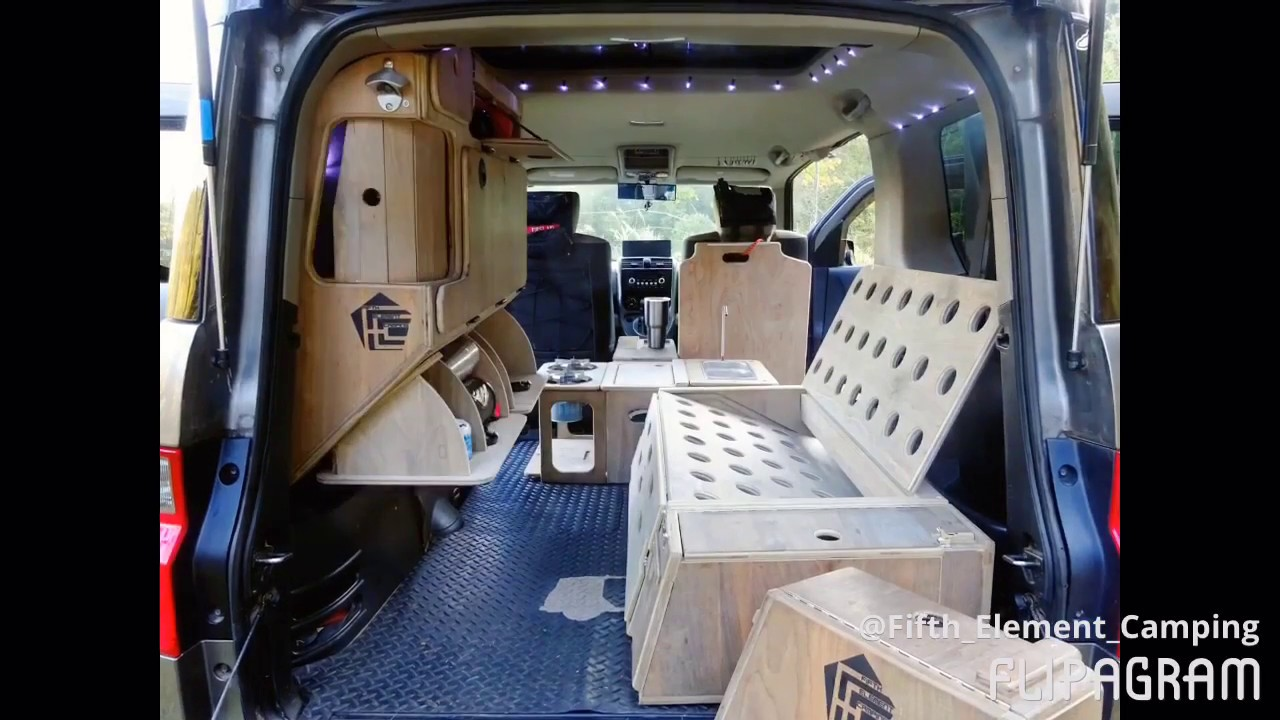 Honda Element Camper >> Honda Element Micro Camper System by Fifth Element Camping - YouTube