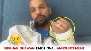 Shikhar Dhawan Emotional Announcement To All Cricket Lovers | Indian Cricketer | Political Qube